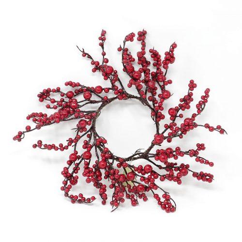 corona con bacche rosse