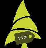 albero natale nuovo con sconto 15%