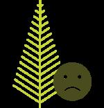 albero natale rovinato